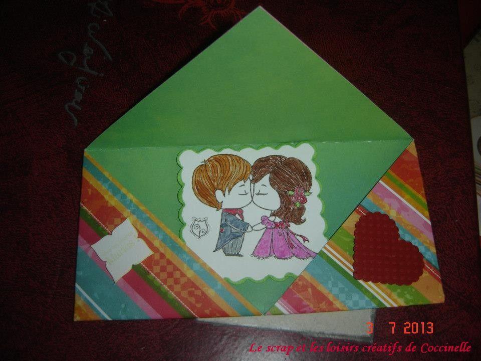 Carte-Enveloppe Pour Le Mariage
