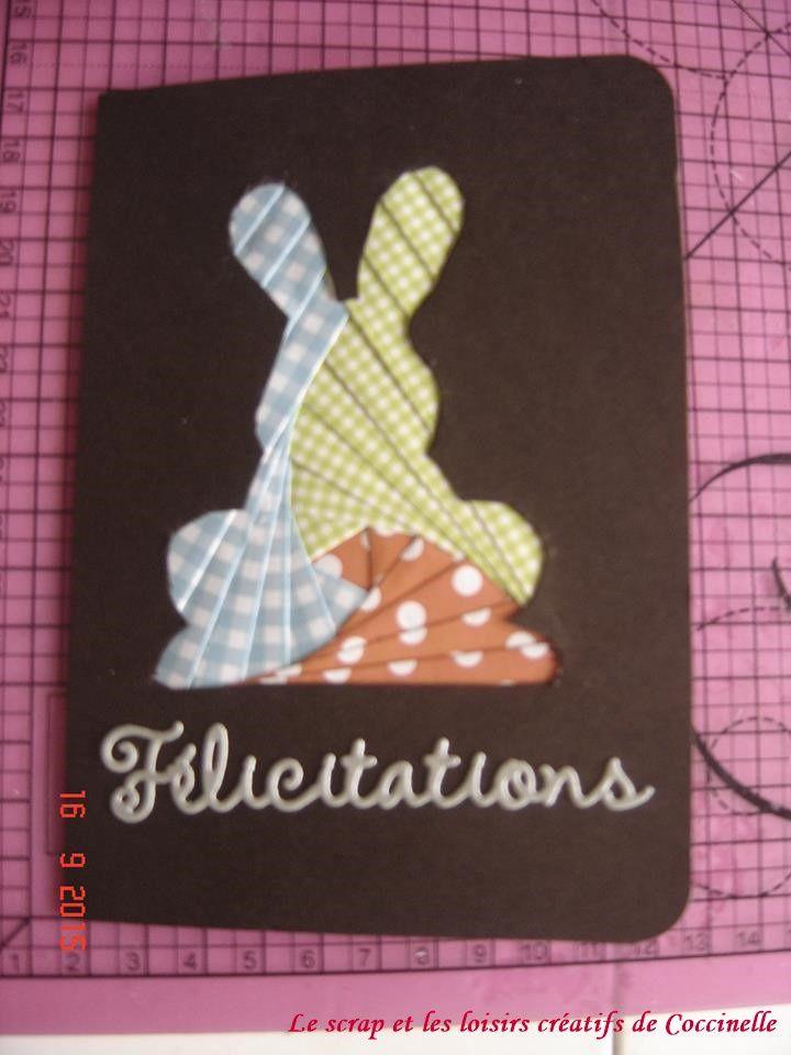 Carte de félicitation en Iris folding pour un garçon