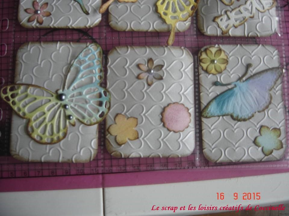 Pocket Letter n°3 Thème papillons en patouille destination France (Scrapcopine de mon association).