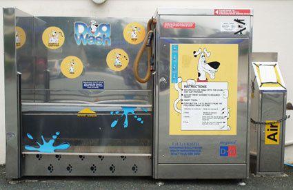Une machine à laver son chien!!