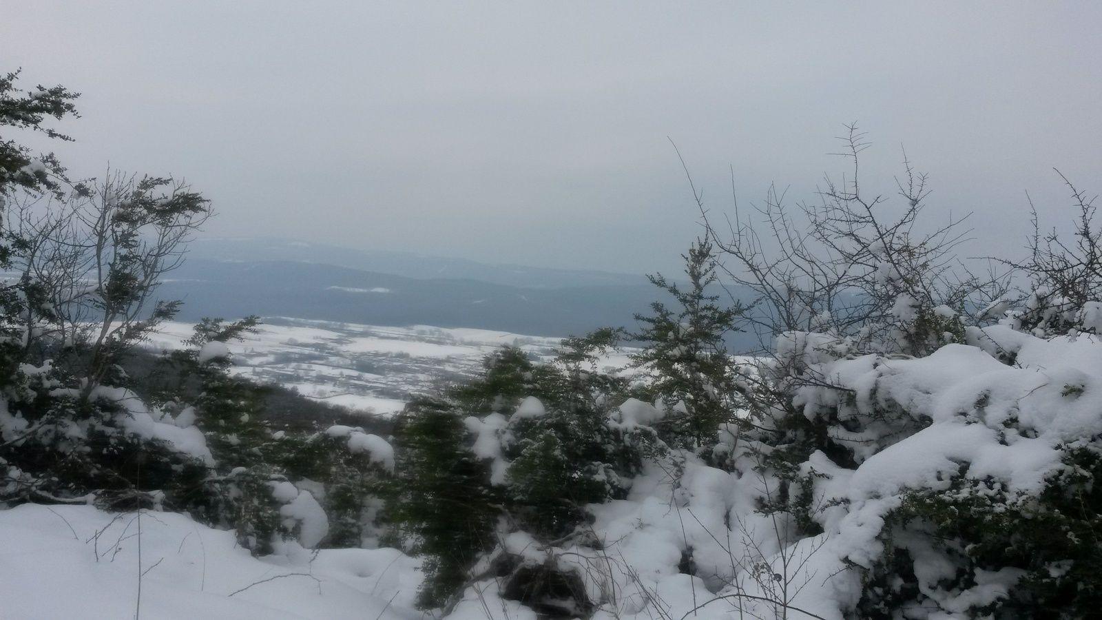 De la neige de la neige