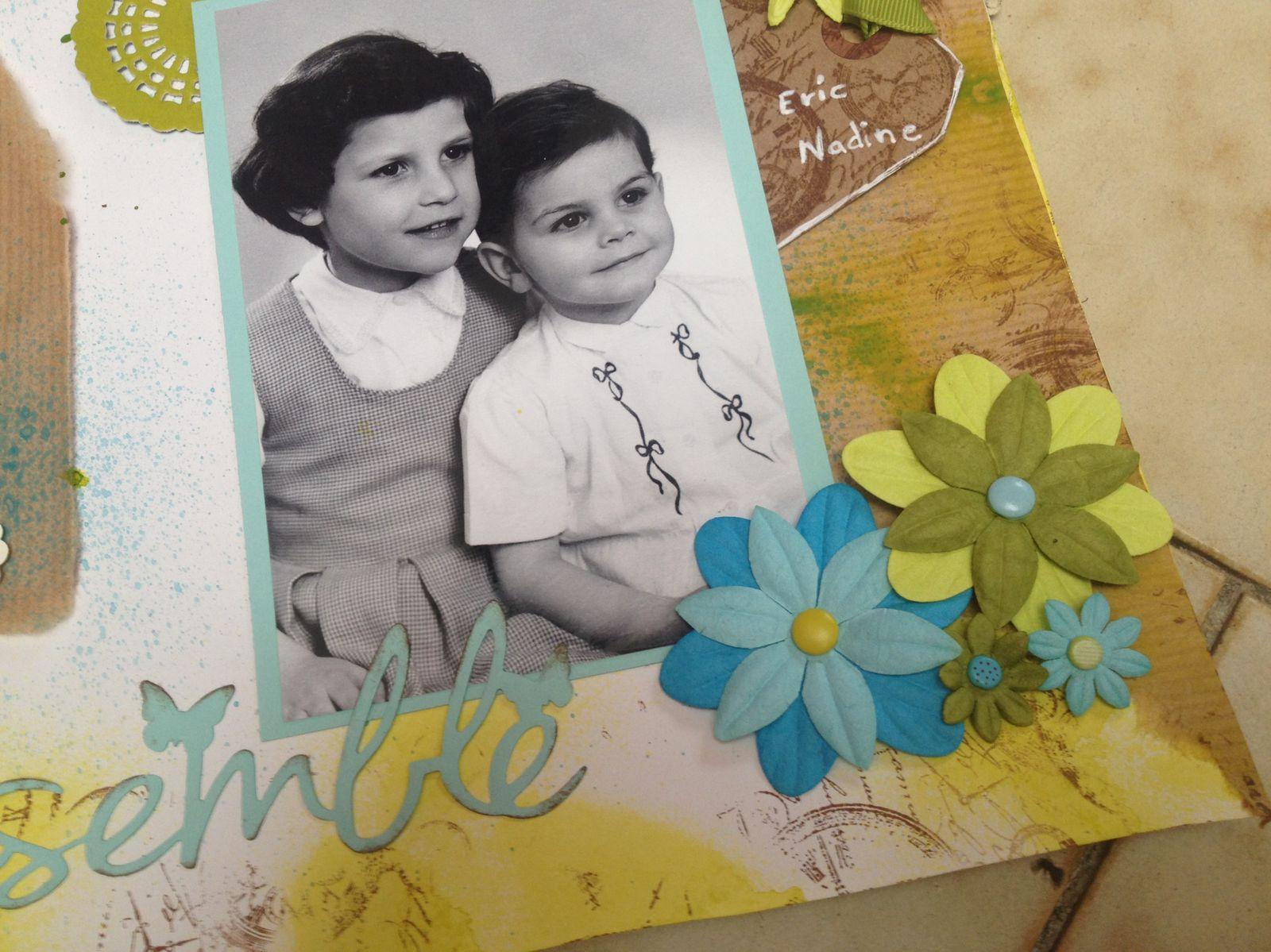 Photo prise vers 1960. Nadine et Eric des cousins de mon père.