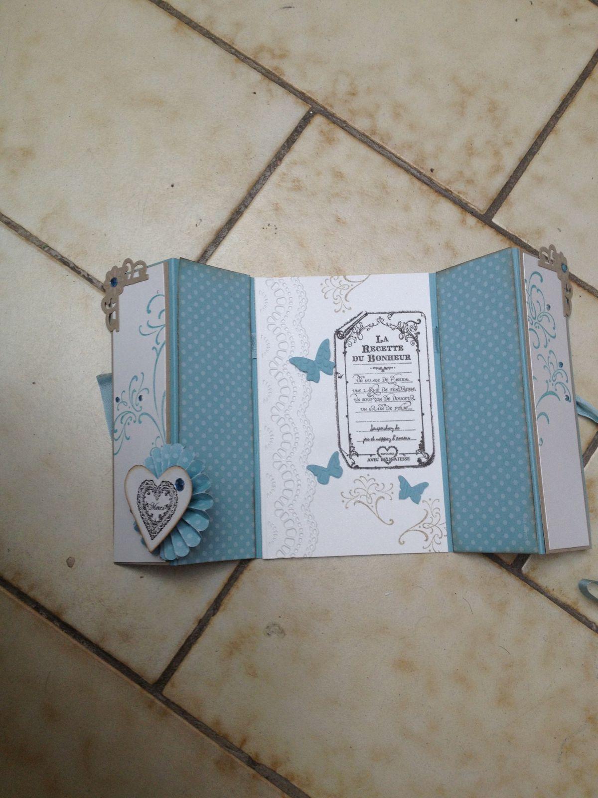 Carte pour le mariage de Claire et Vincent