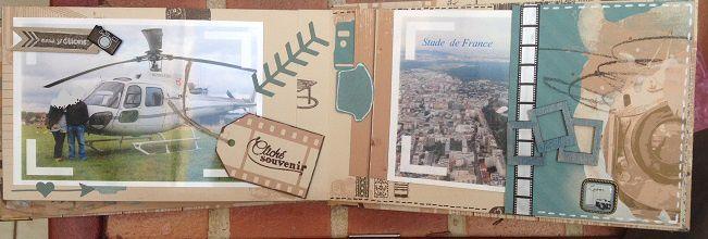 Mini album Voyage en Hélico collection Shooting Photos de Lorelaï Design