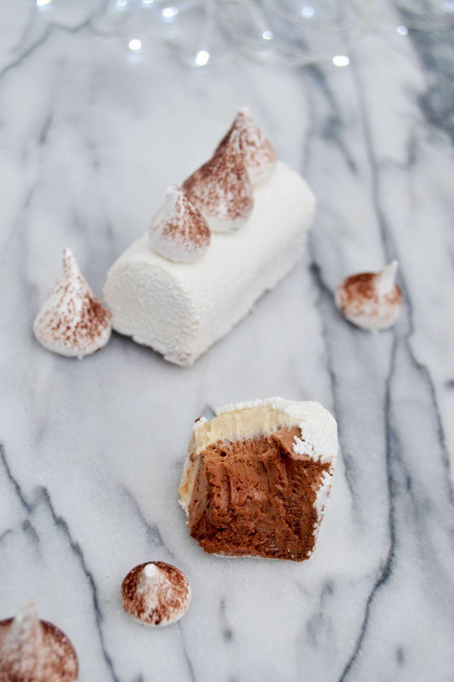 Mini bûches aux 3 chocolats