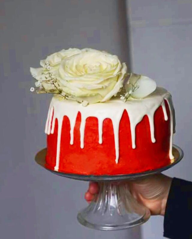 Layer cake rouge et blanc