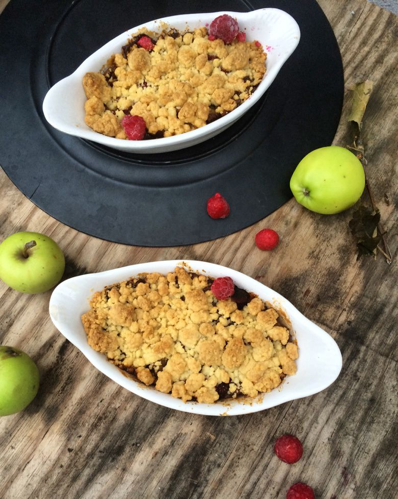 Crumble Pomme &amp&#x3B; Framboise