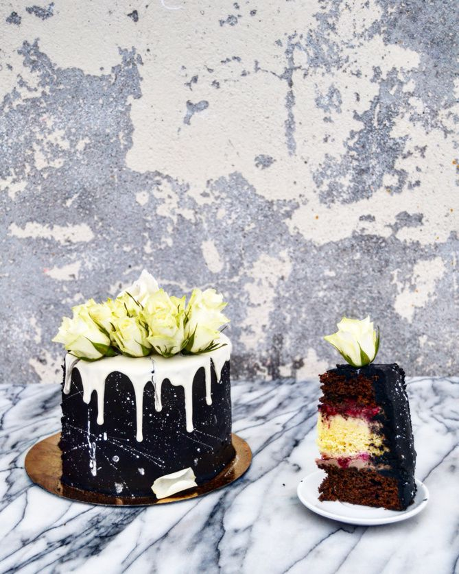Layer Cake Blanck and White, Nutella Framboise