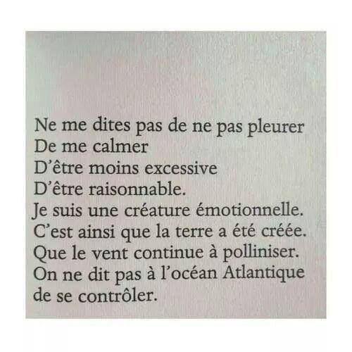 Je suis une créature émotionnelle (Eve Ensler)