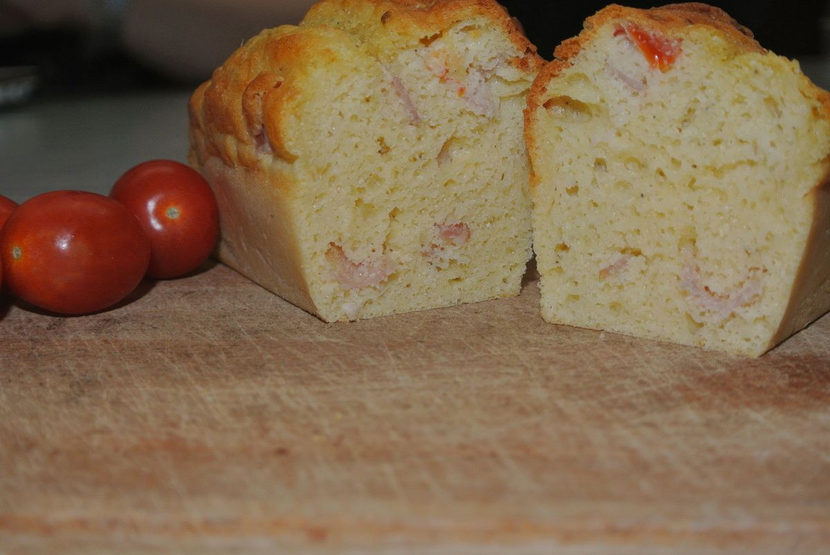 Mini cake tomate/bacon
