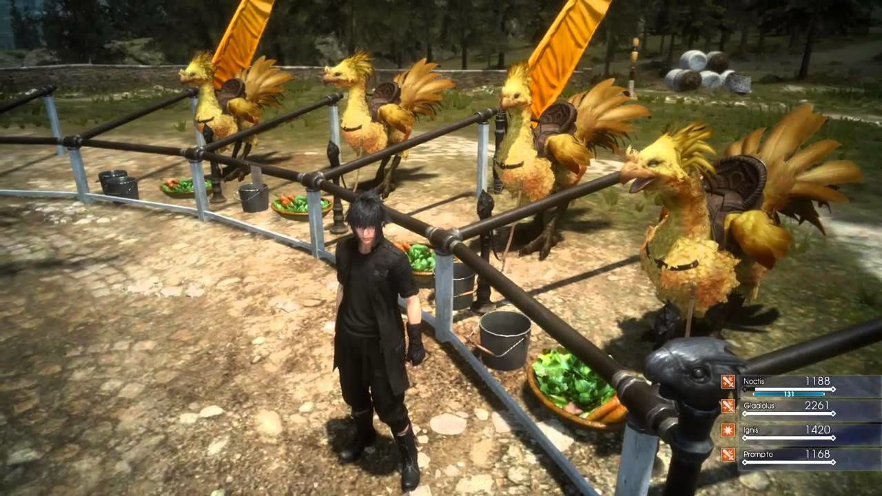 Final Fantasy XV : Seance de peche et chocobo en action (TGS 2015)