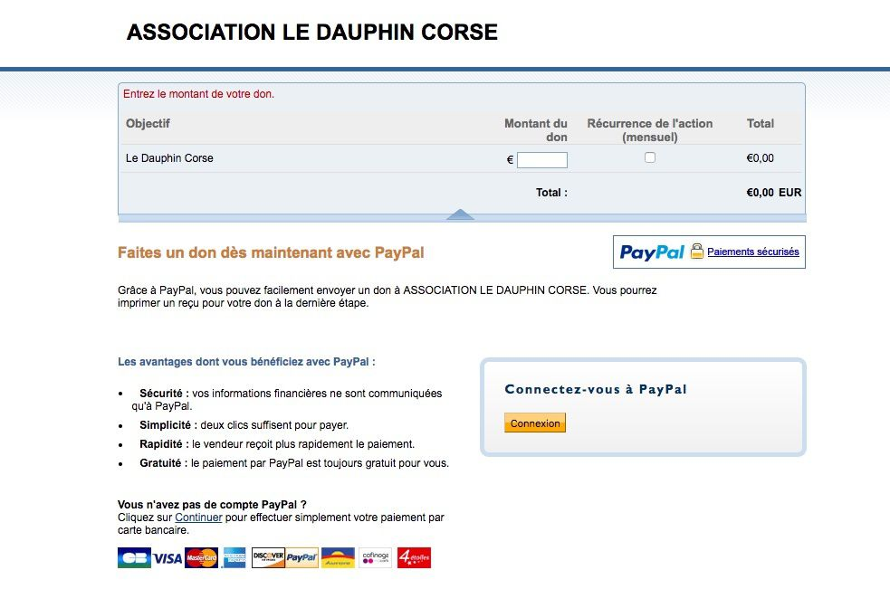 L'association rejoint Paypal