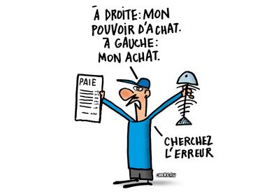 HALTE AUX BAISSES DE POUVOIR D'ACHAT !
