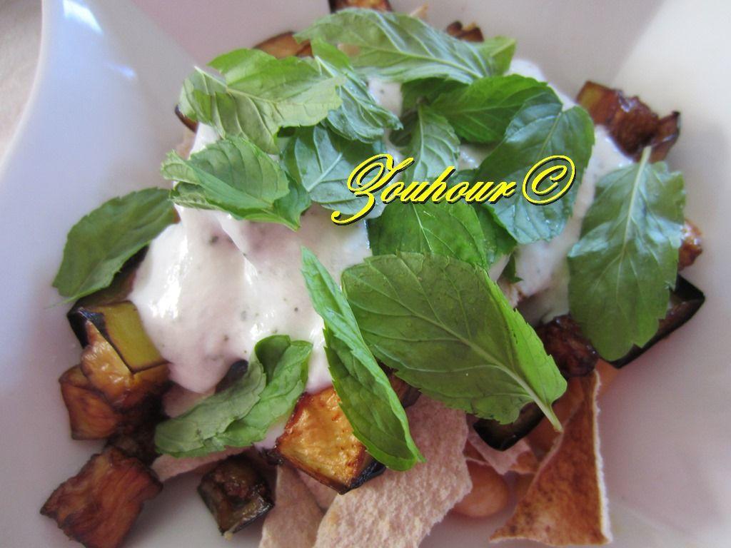 Fatteh d'aubergine, Fatteh Eggplant