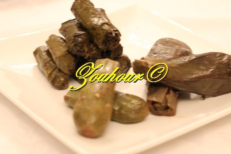 Feuilles de vigne aux légumes et à l'huile d'olive (grape leaves with vegetables)