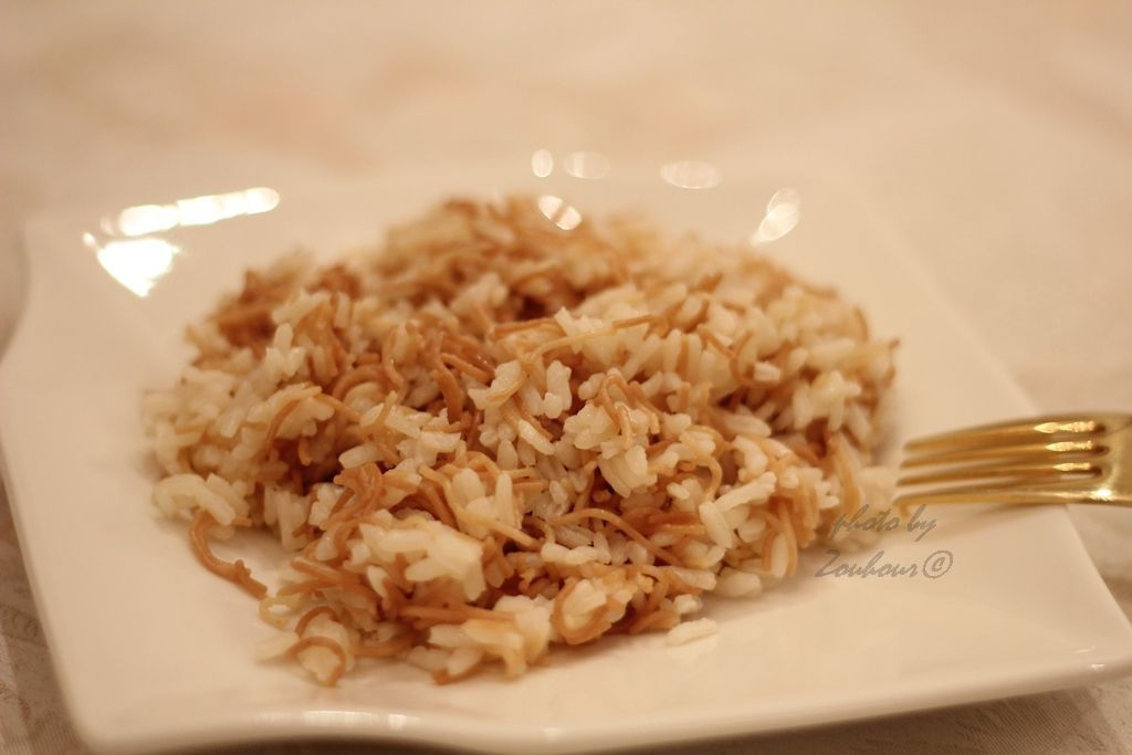 Riz aux vermicelles (Rice with vermicelli)