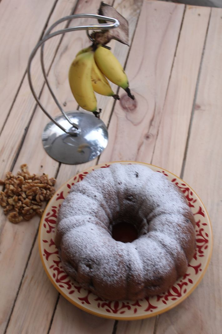 Pain aux Bananes et Noix, Banana and walnuts Bread