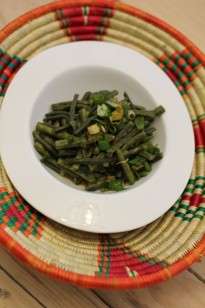 Haricots Verts Au Curry Rouge, Red bean Curry