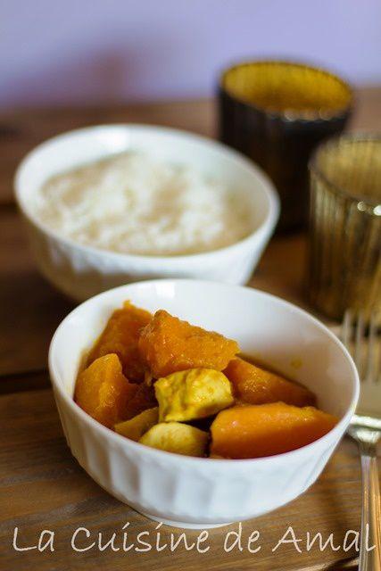 Curry Au Potiron et Poulet