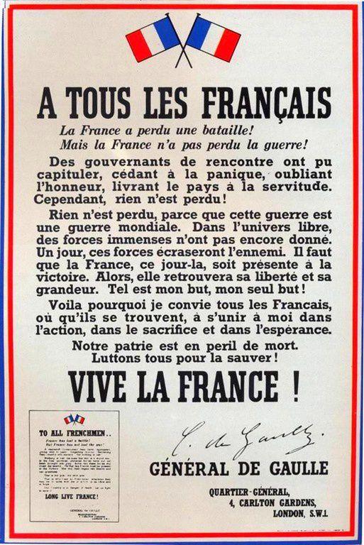 76ème Anniversaire de l'Appel du 18 Juin 1940- Dunkerque 2016