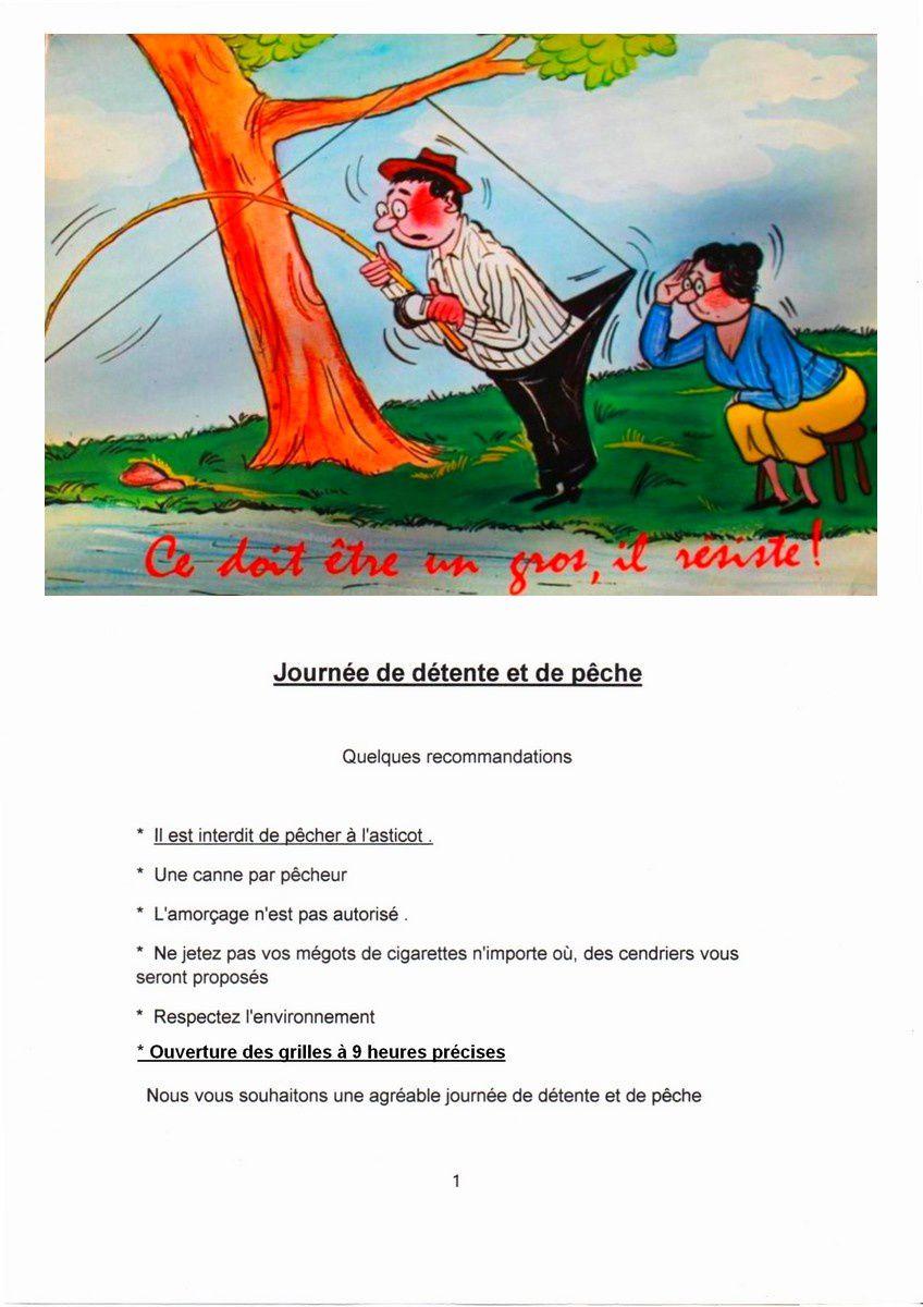 Journée de détente et de pêche le 30 Septembre 2017 à Ghyvelde  (Inscription) .