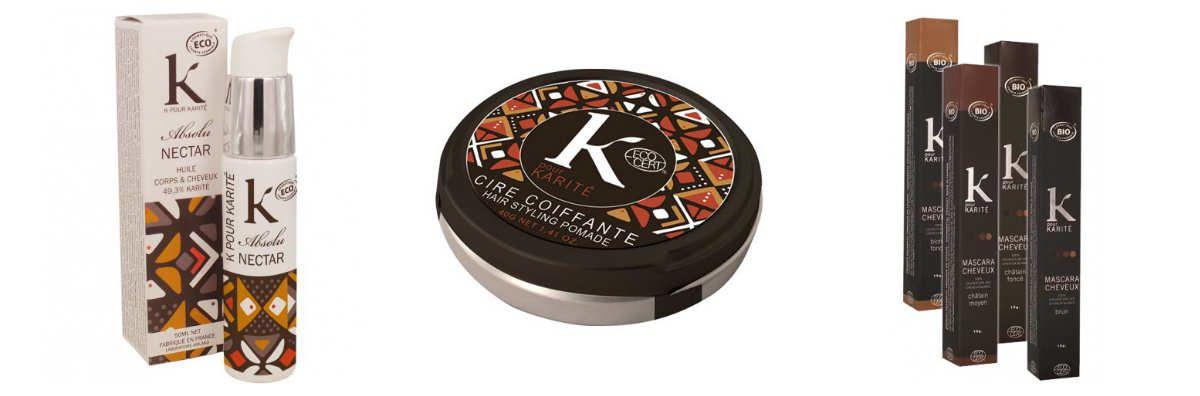 Nouveux produits, nouveaux packaging chez K pour Karité {#Beauté}{#Karité}{#Test}