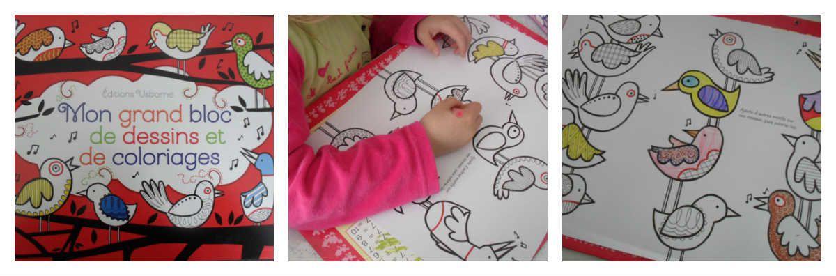 Mon grand bloc de dessins et de coloriages des éditions Usborne {#Test}{#Coloriage}{#Usborne}
