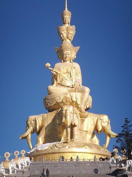 Samatabhadra Bodhisattva, mount emei Chine, 48 m