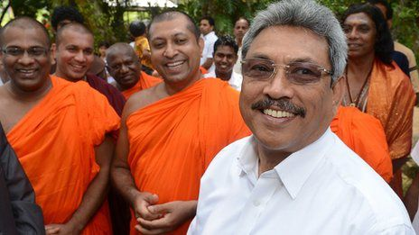 Sources : BBC : Defence Secretary Gotabhaya Rajapaksa has said monks are there to protect country, religion and race