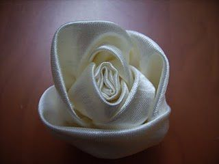 Faire une rose, une fleur en tissu