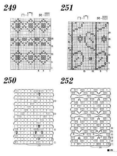 Motifs au crochet, des grilles et tutoriels (vu sur la toile)