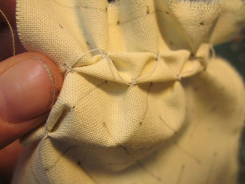 Capitonner le tissu