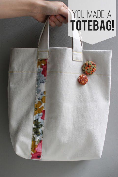 Un sac pour les courses DIY