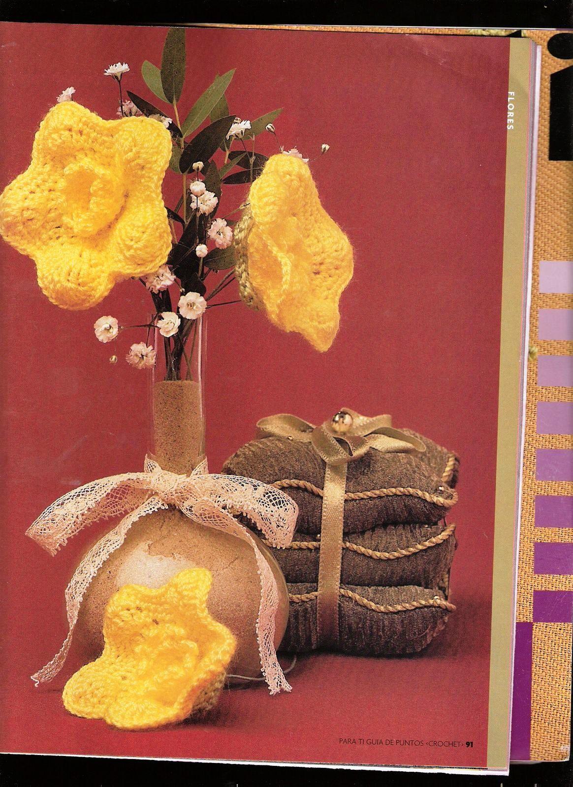 Fleurs au crochet avec la grille