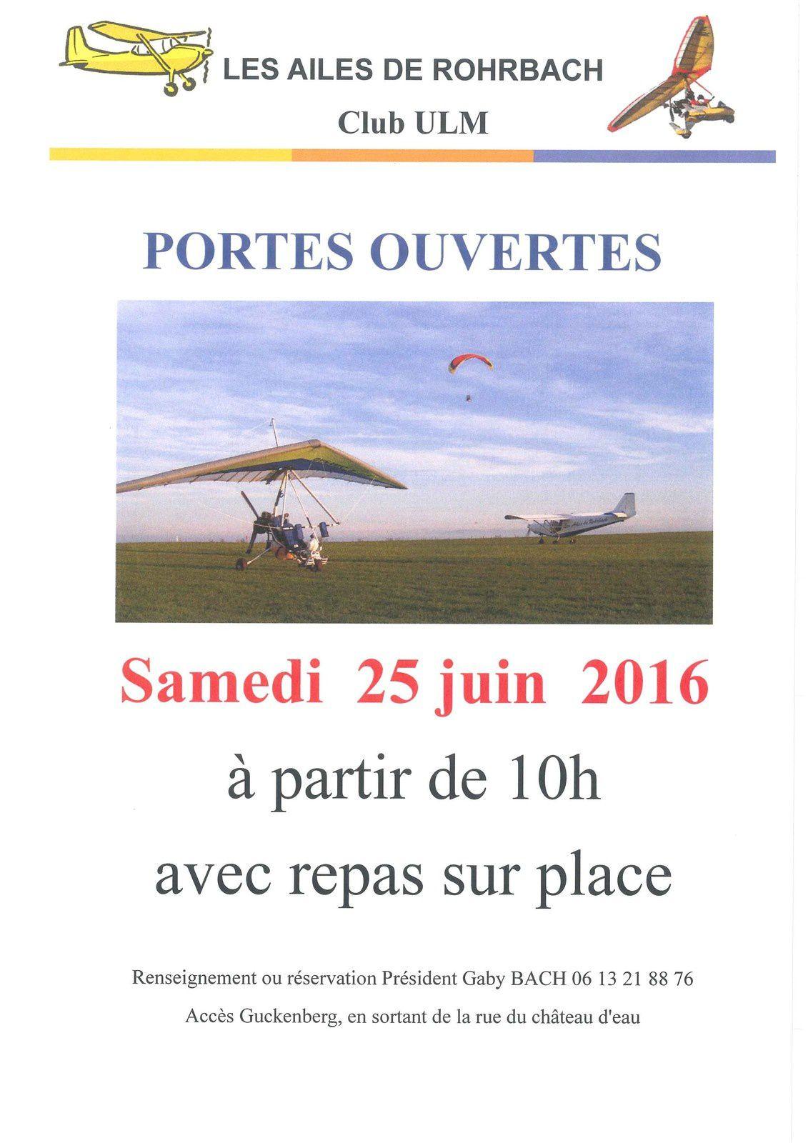 PORTES OUVERTES 25 JUIN 2016
