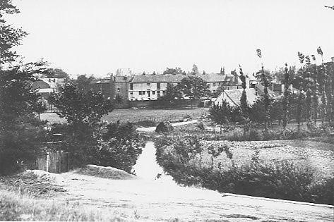 photo provenant des Archives départementales représentant l'Arbonnoise avant la canalisation