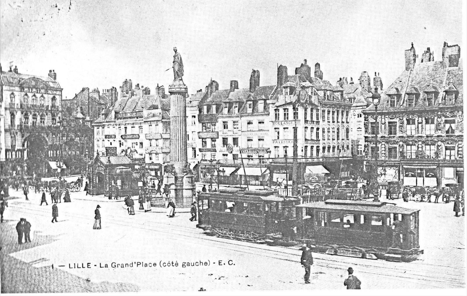 Le tramway Grand Place en 1905