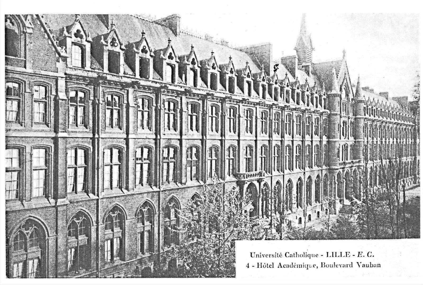 le bâtiment du boulevard Vauban au début du XX° siècle
