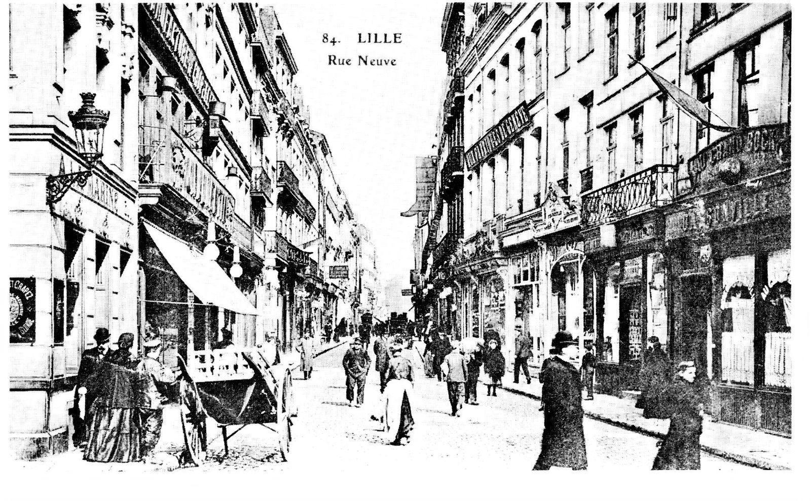 les commerces de la rue Neuve en 1900