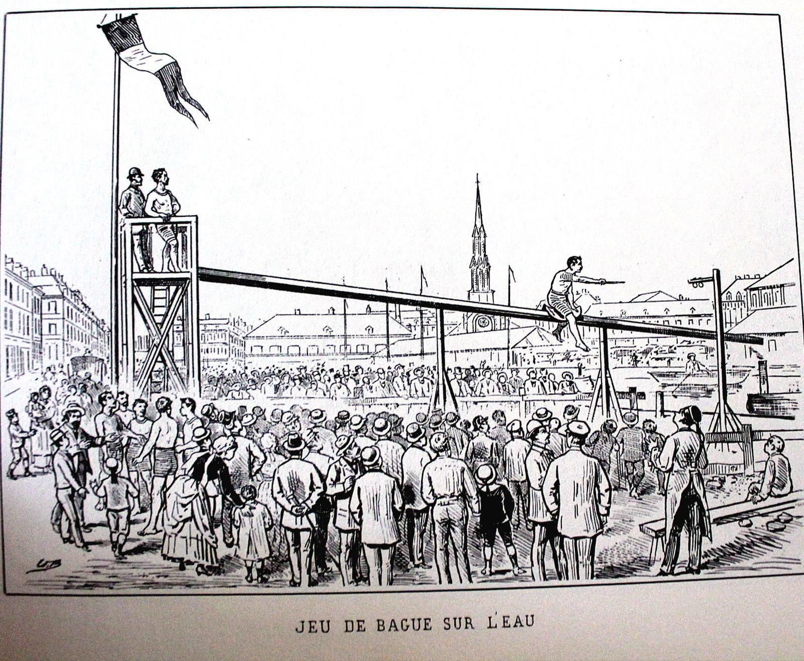 une fête organisée en dehors de Lille, vraisemblablement à Wazemmes dans la deuxième partie du XIX° siècle