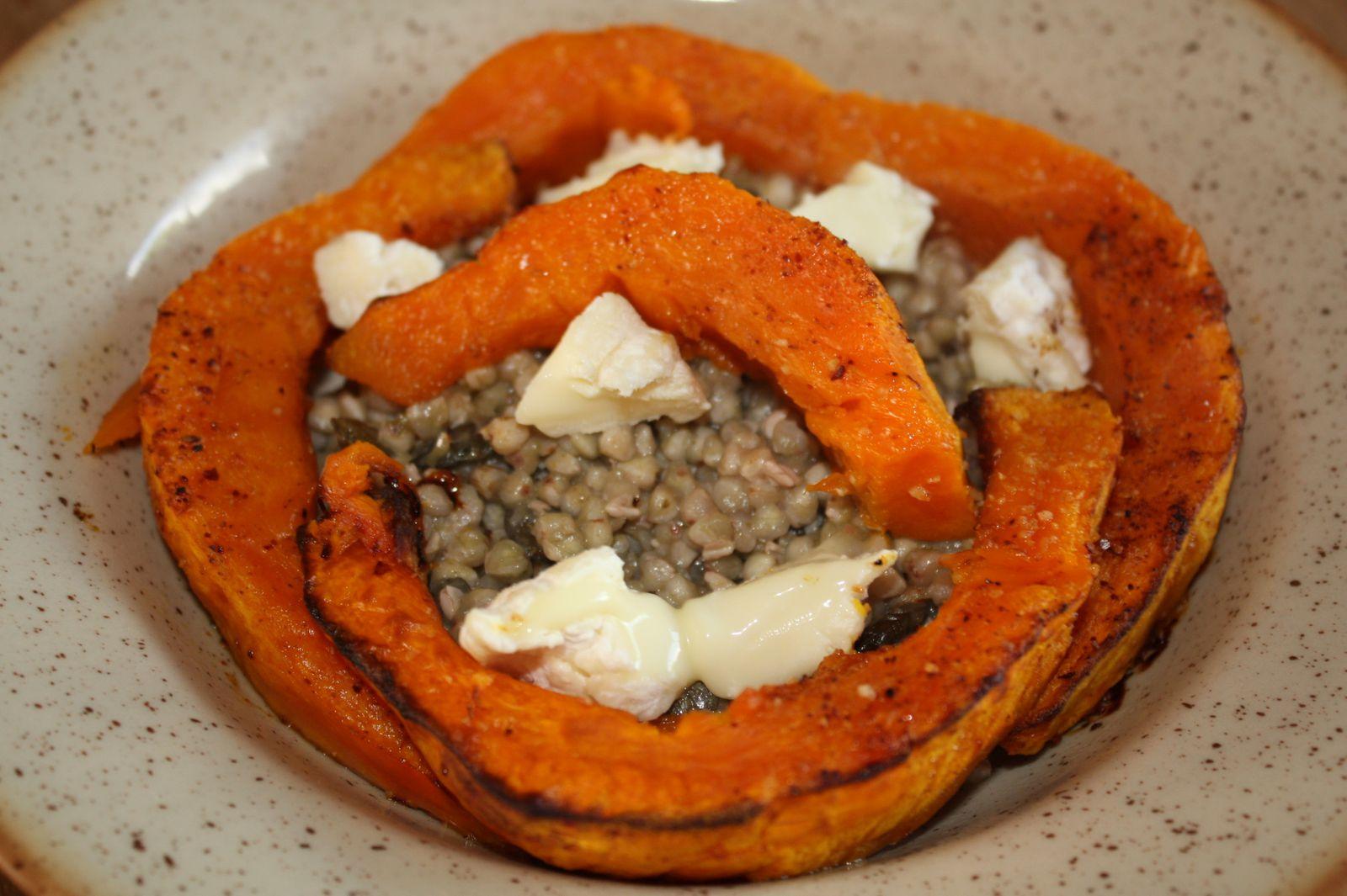 Assiette de sarrasin au potimarron rôti