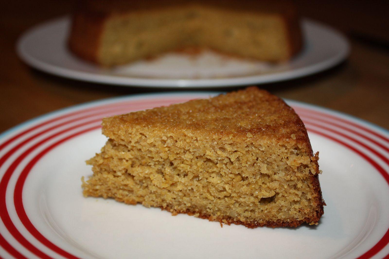 Gâteau au yaourt, polenta &amp&#x3B; citron (sans gluten)