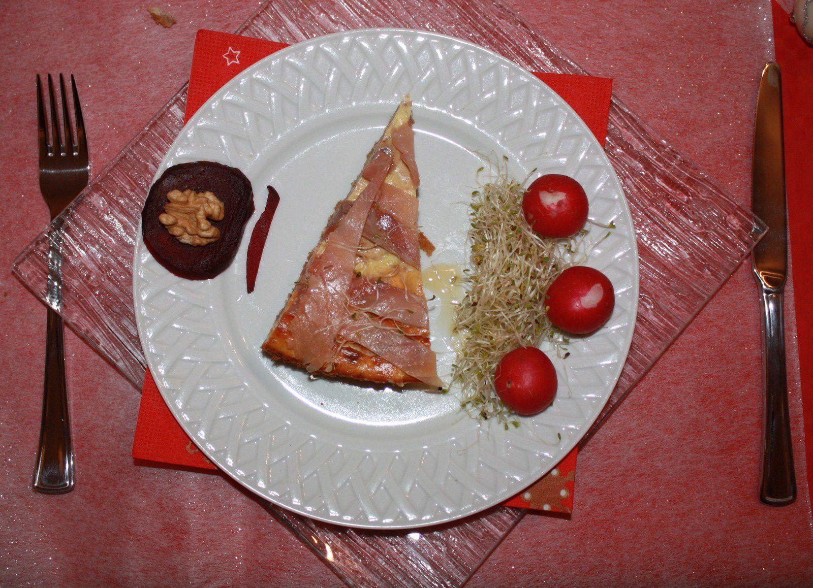 Entrée festive car Noël approche: Cheesecake au saumon fumé