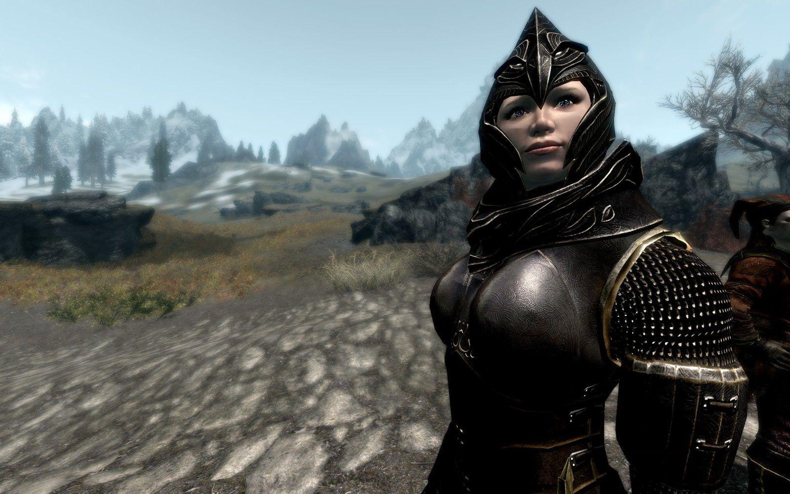 Un apperçus du niveau de détail avec Vilja et l'armure elfique retexturé de Cabal