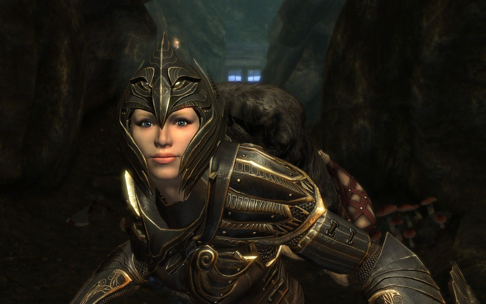 Ensuite, voici sa fidèle partenaire, Vilja. Admirez les détails de l'armure elfique de Cabal.