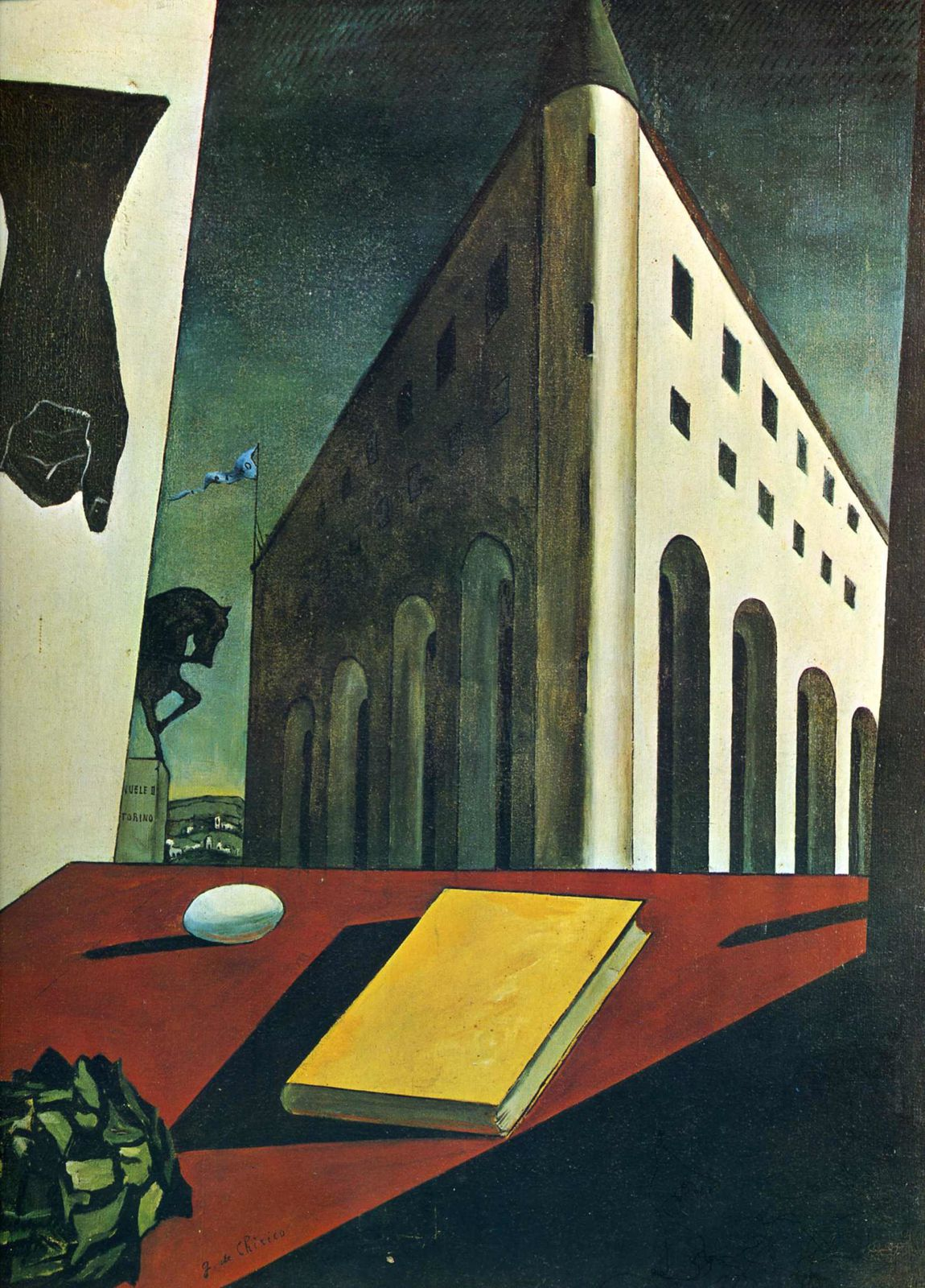 Giorgio de Chirico, Turin Spring, 1914, Collection privée.