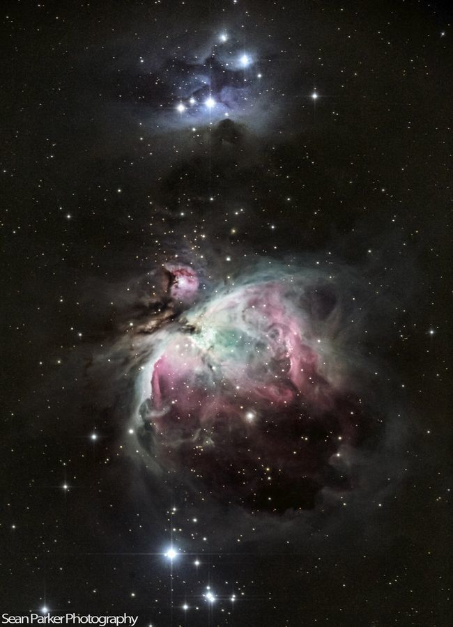 The Great Orion and Running Man Nebula by Sean Parker.
