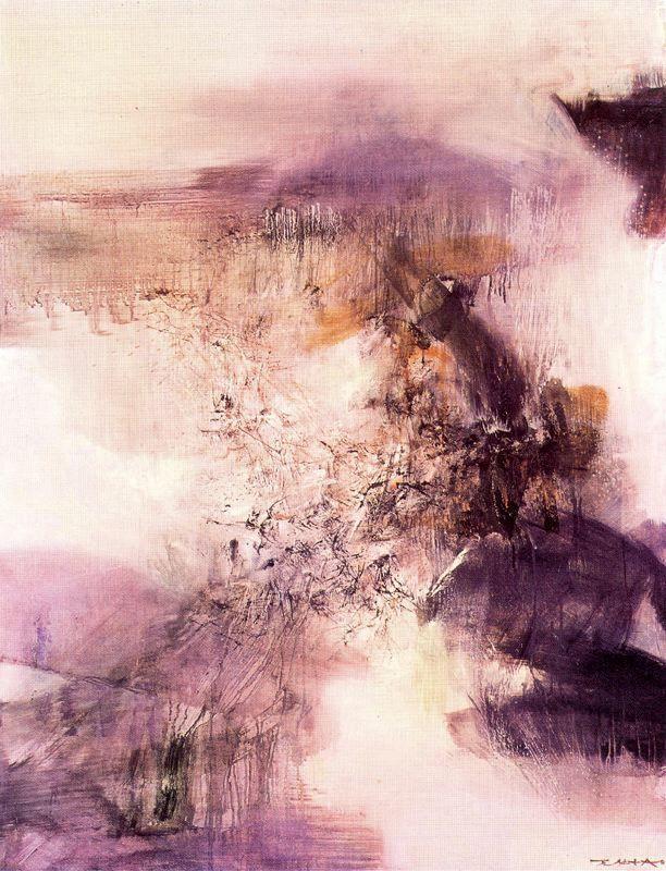 Tableau de Zao Wou-Ki.