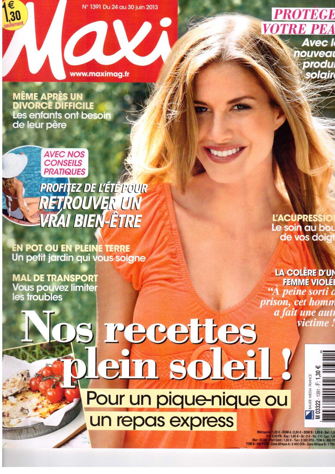 Elodie dans le magasine &quot&#x3B;MAXI&quot&#x3B; du 24 au 30 juin 2013