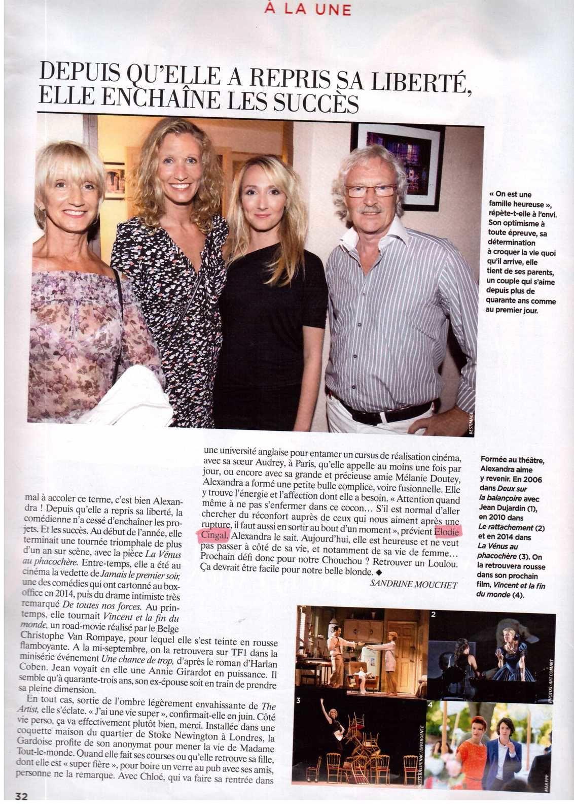 Elodie dans Gala 22/07/2015 Alexandra Lamy et Jean Dujardin